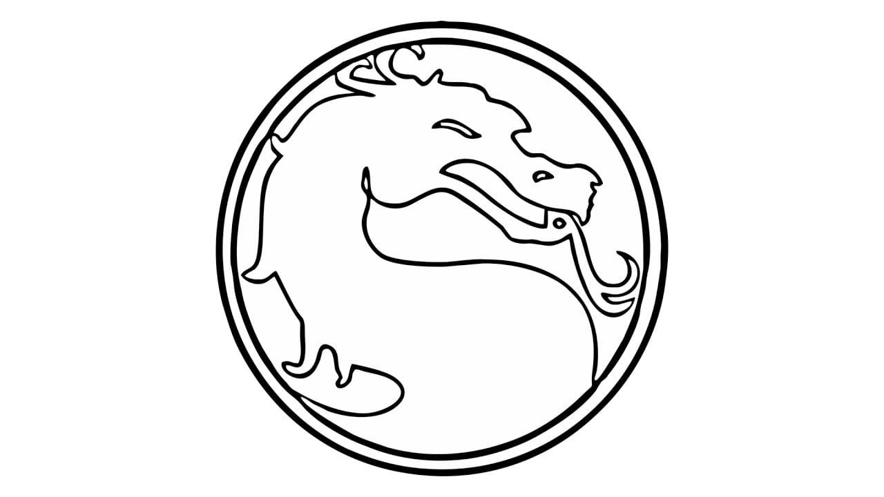 Como Desenhar O Símbolo Do Mortal Kombat (emblema)