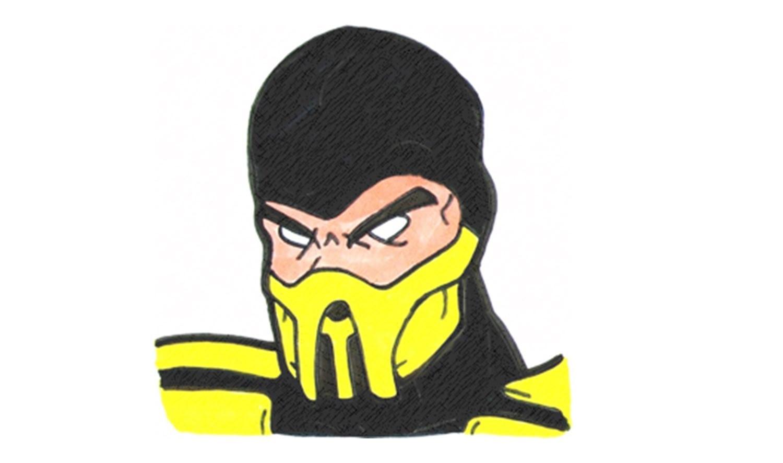 Como Desenhar O Scorpion De Mortal Kombat (personagem)