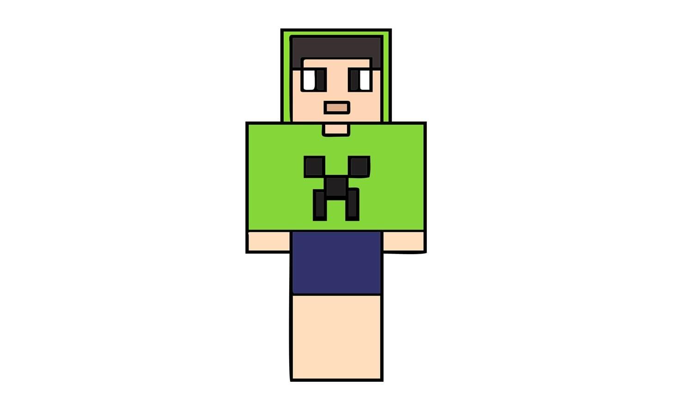 How To Draw Spok From Minecraft (skin)