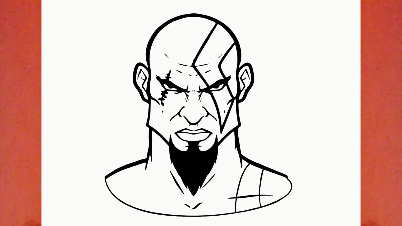 How To Draw Kratos From God Of War (game)