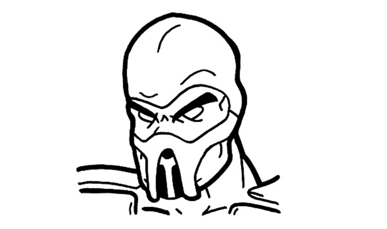 Come Disegnare Scorpione Da Mortal Kombat
