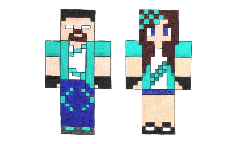 Como Desenhar O Rezendeevil E A Helena De Minecraft