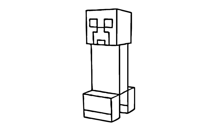 Como Desenhar O Creeper De Minecraft (skin)