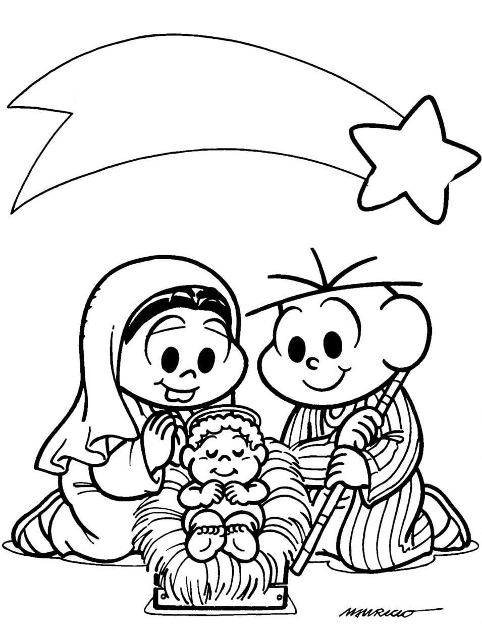 Jogo Desenhos Para Colorir De Natal Turma Da Monica