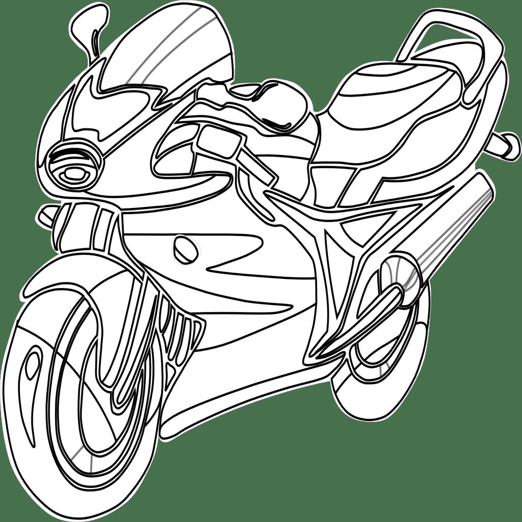 Moto Para Colorear Pintar E Imprimir