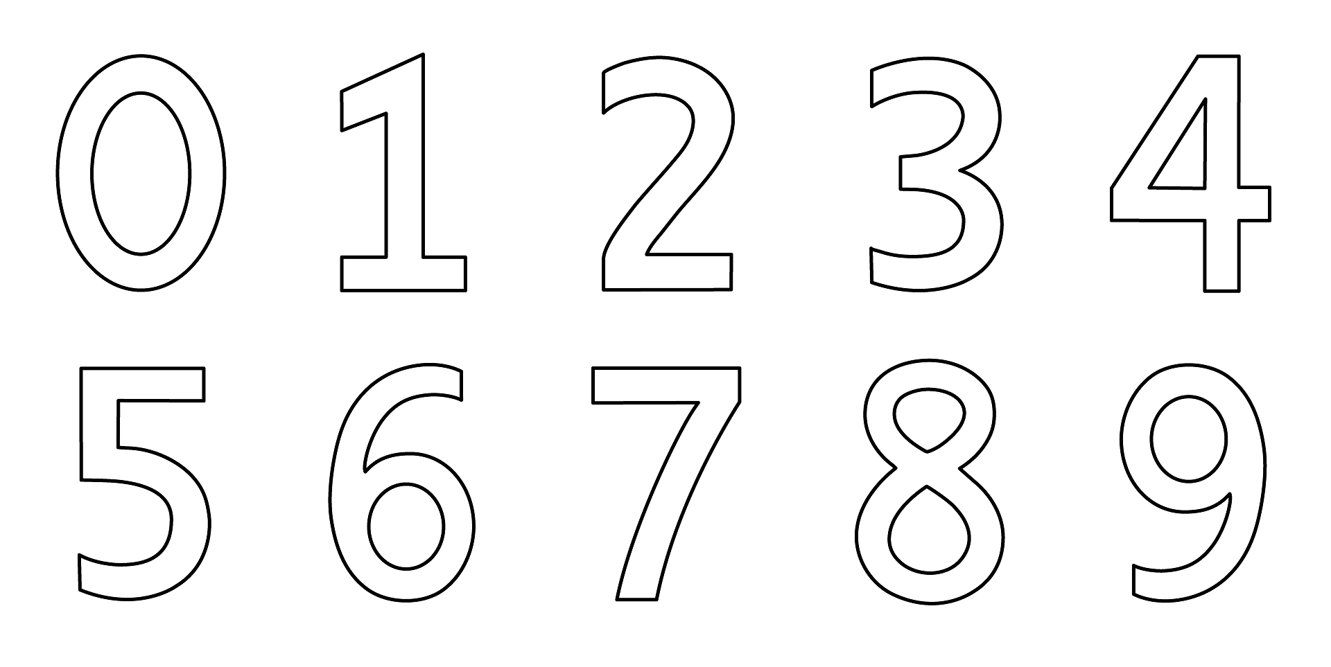 Dibujos De Números Para Colorear E Imprimir Gratis, Números Del 1