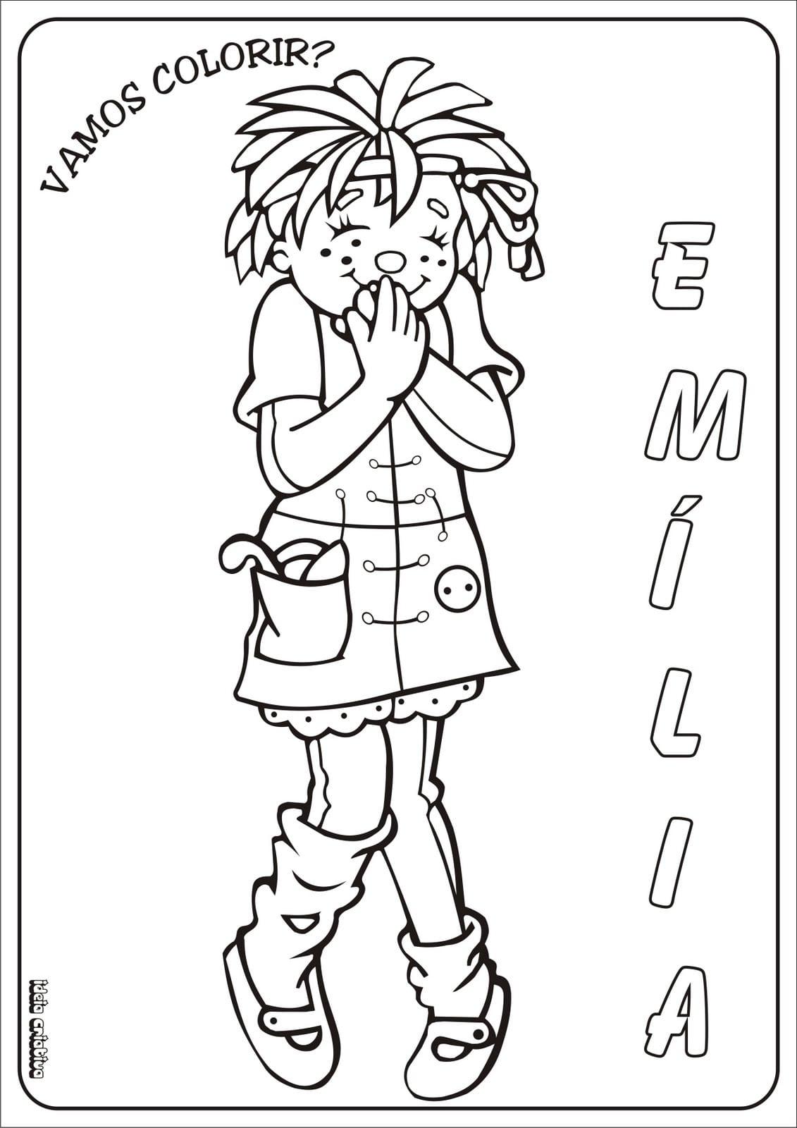 Desenho Da Boneca Emilia Para Colorir – Pampekids Net