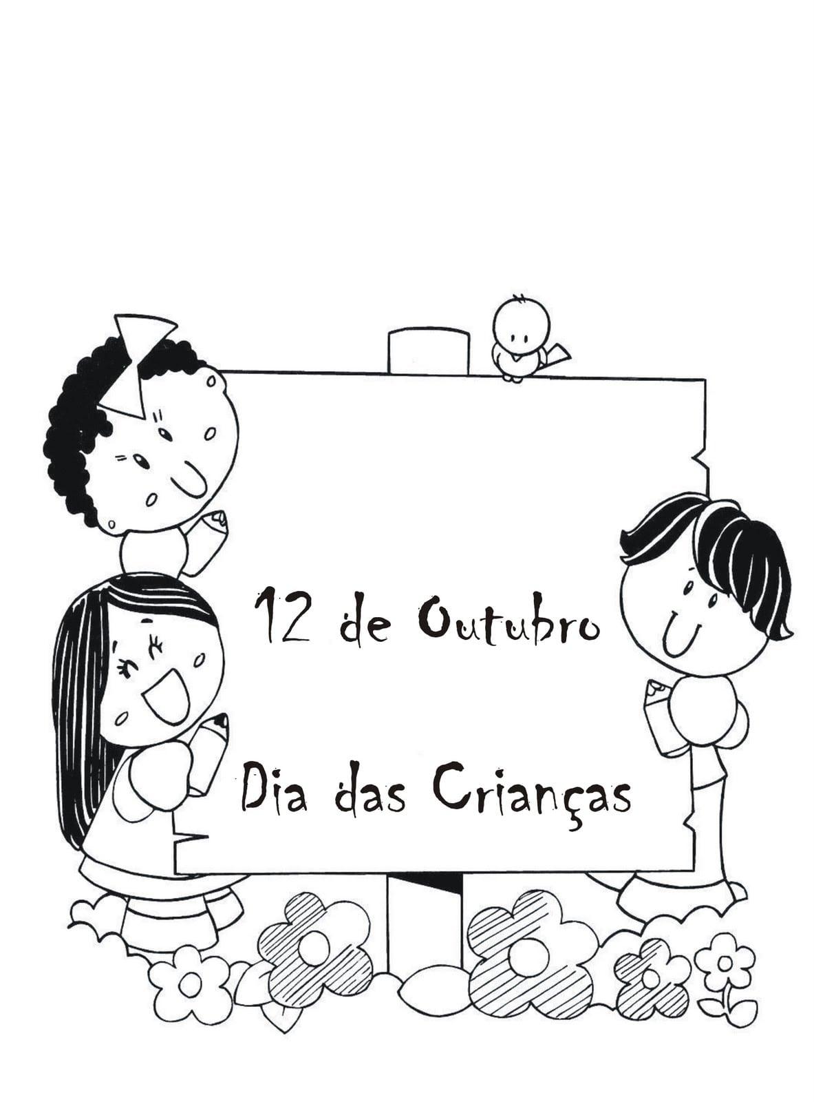 Desenhos Para Pintar Do Dia Das Crian As