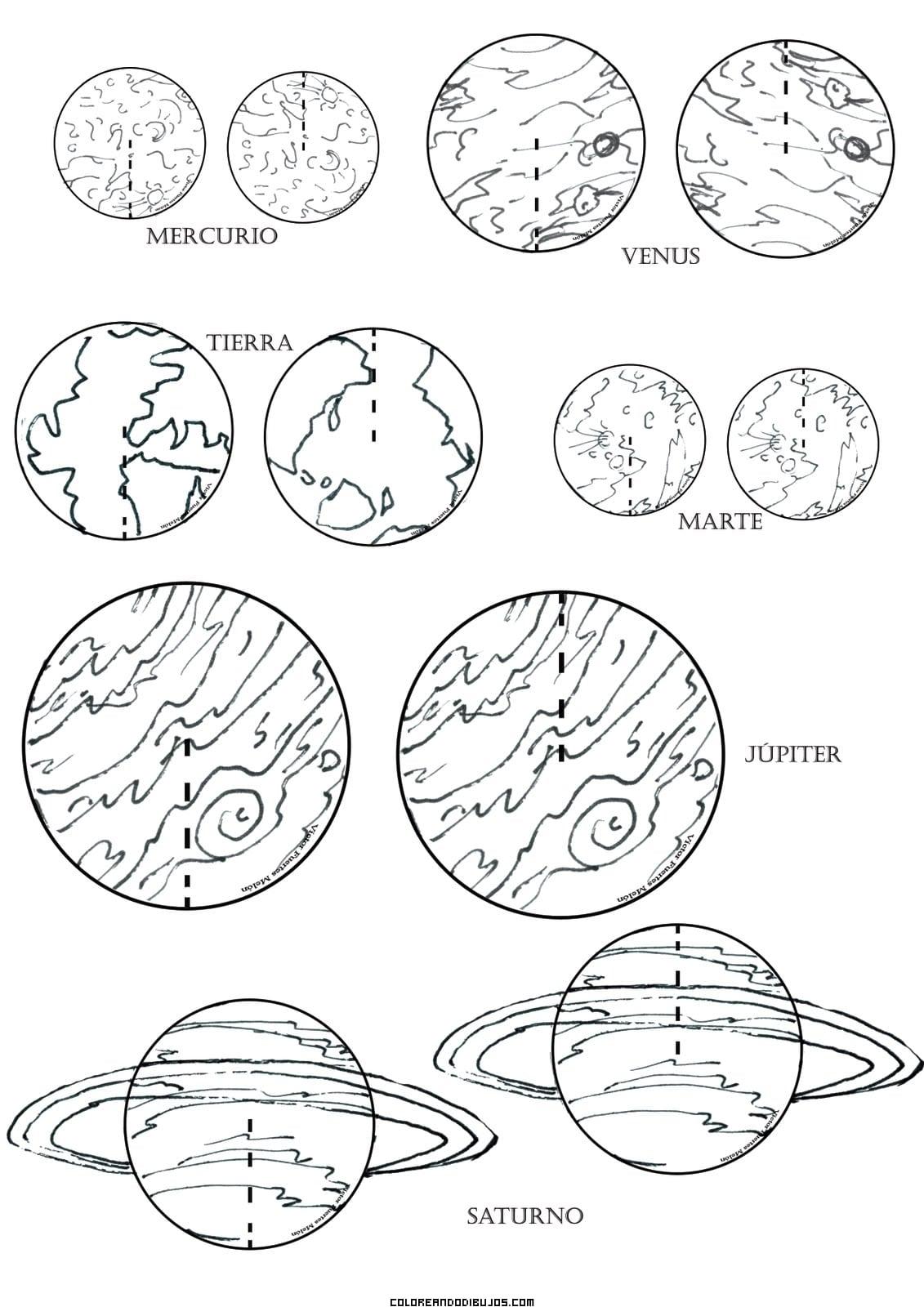 Planetas Para Colorir – Pampekids Net