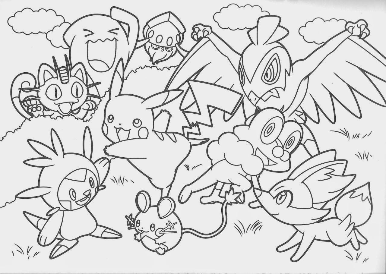 Pokemon Para Colorir E Imprimir