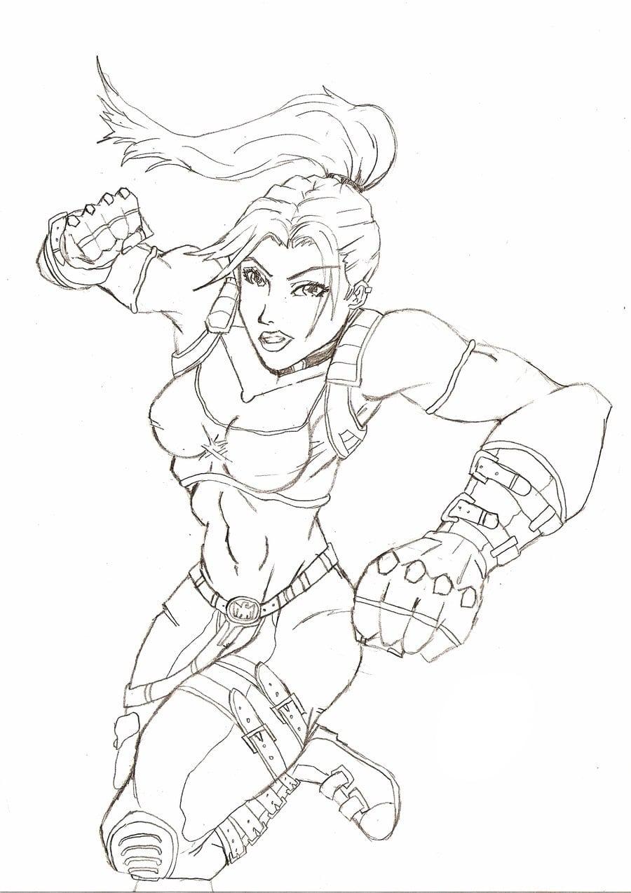 Desenho De Sonya Blade De Mortal Kombat Para Colorir