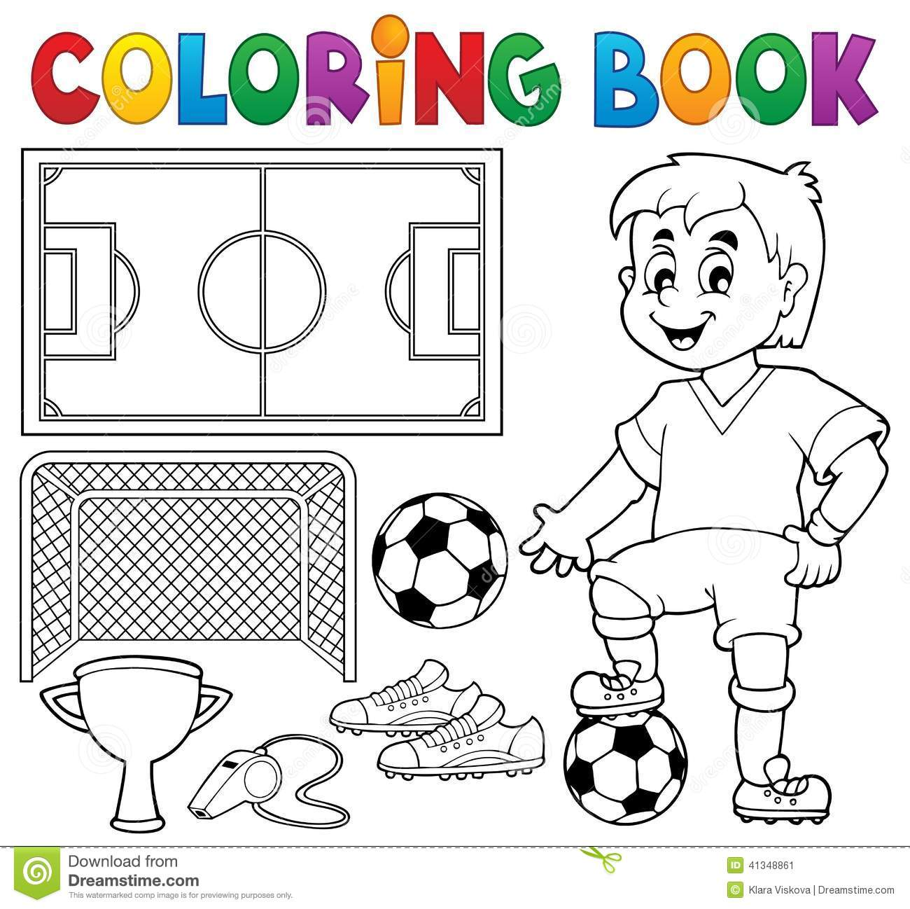 Campo De Futebol Para Colorir – Pampekids Net