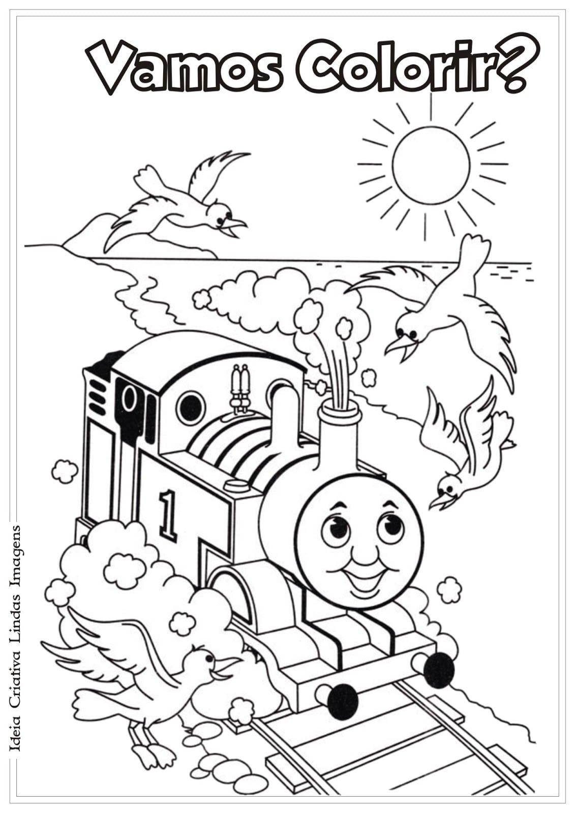 Desenhos Para Colorir Thomas E Seus Amigos