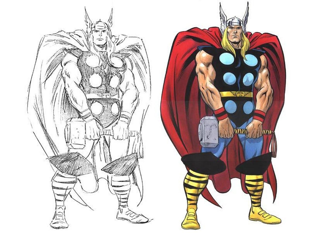Thor Para Colorir – Pampekids Net