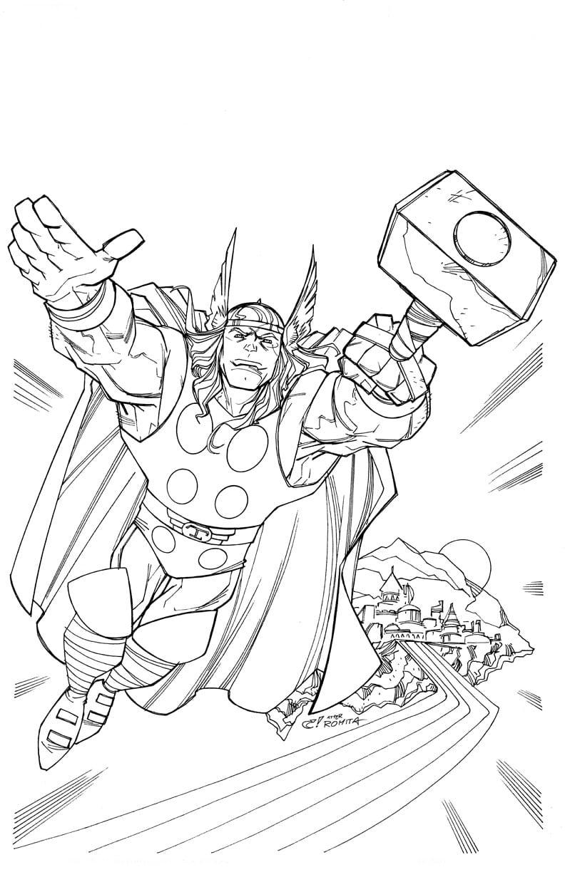 Thor Para Colorir E Pintar 1