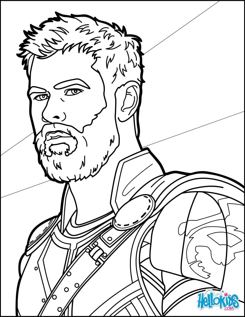 Thor Para Colorir E Pintar 3