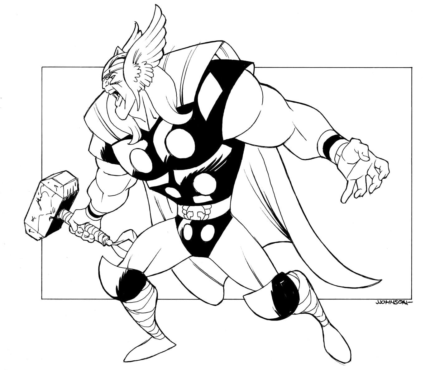 Desenho Do Thor Para Colorir ~ Imagens Para Colorir