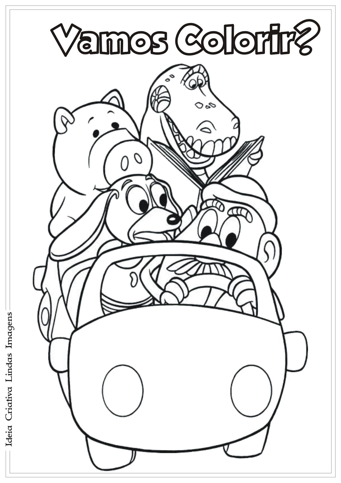 Toy Story Para Colorir E Pintar 11