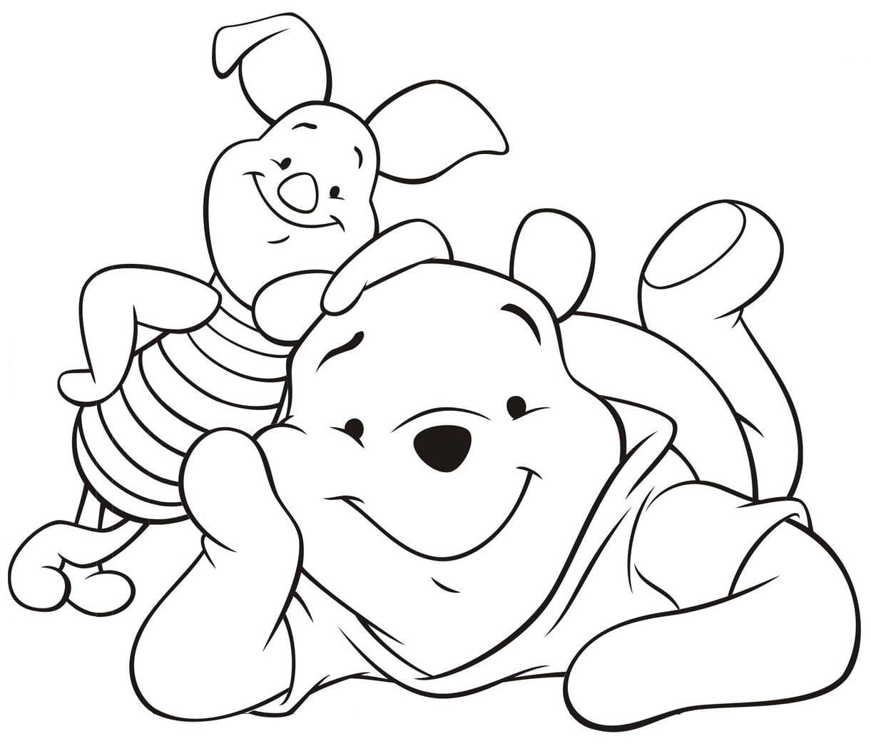 Imagens Do Ursinho Pooh Para Colorir