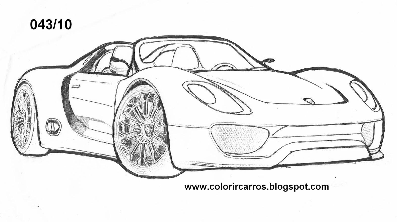 Colorindo E Desenhando  Carro Para Colorir  5