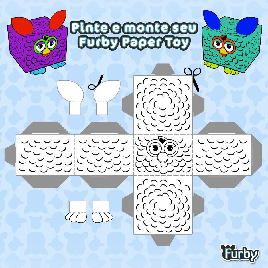 Desenhos Para Colorir Furby