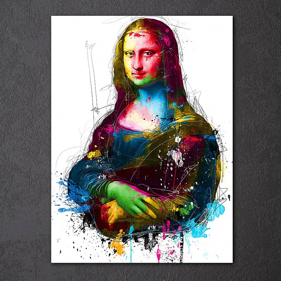 1 Painel Emoldurado Hd Impresso Mulher Cor Sorrindo Mona Lisa Óleo