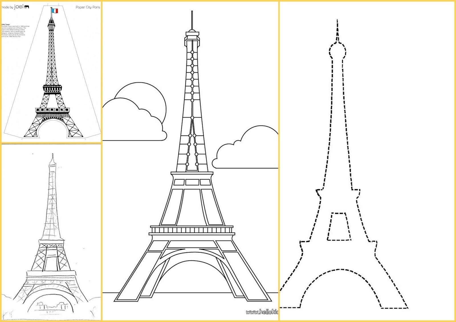 Plantillas De La Torre Eiffel