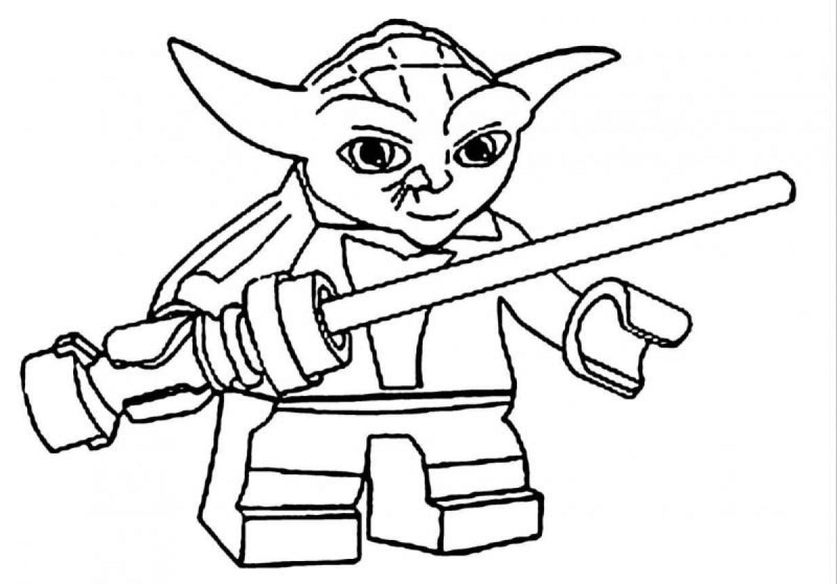 Lego Star Wars Yoda Coloring Pages Photos, Cartoon At Becoloring