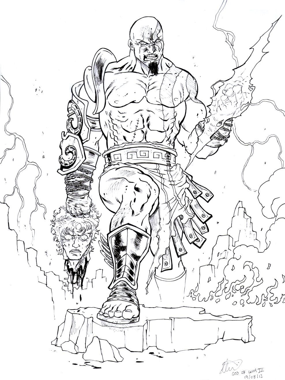 Incredible God Of War Coloring Pages