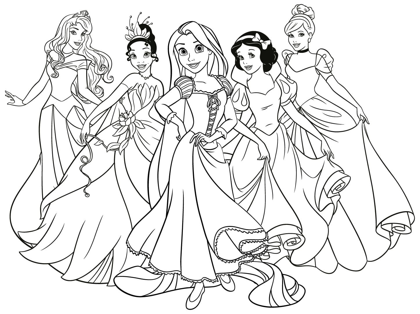 Princesas Da Disney Para Colorir E Imprimir