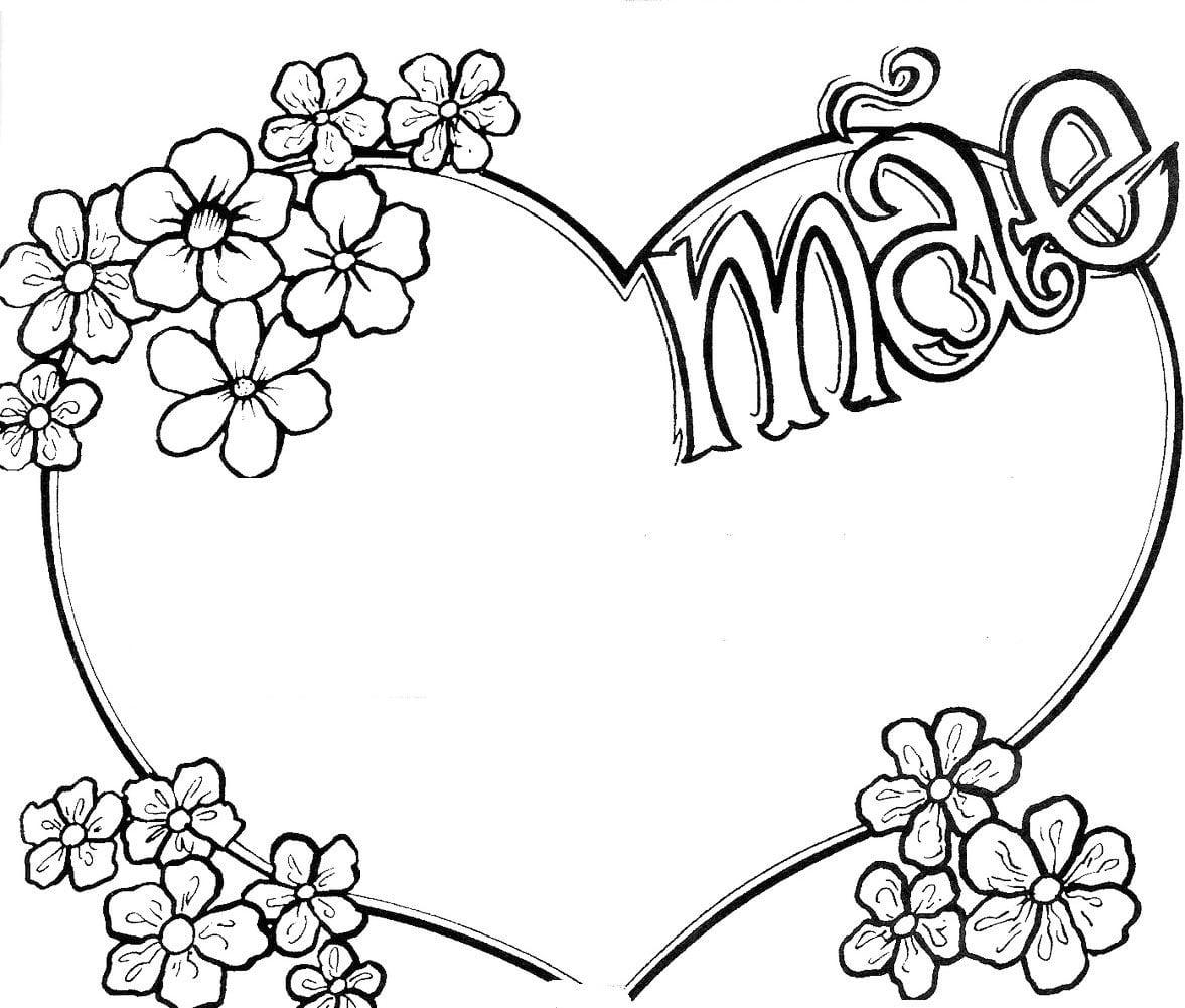 Pintura De Imagens, Dia Da Mãe, Expressão Plástica, Corações, Amor