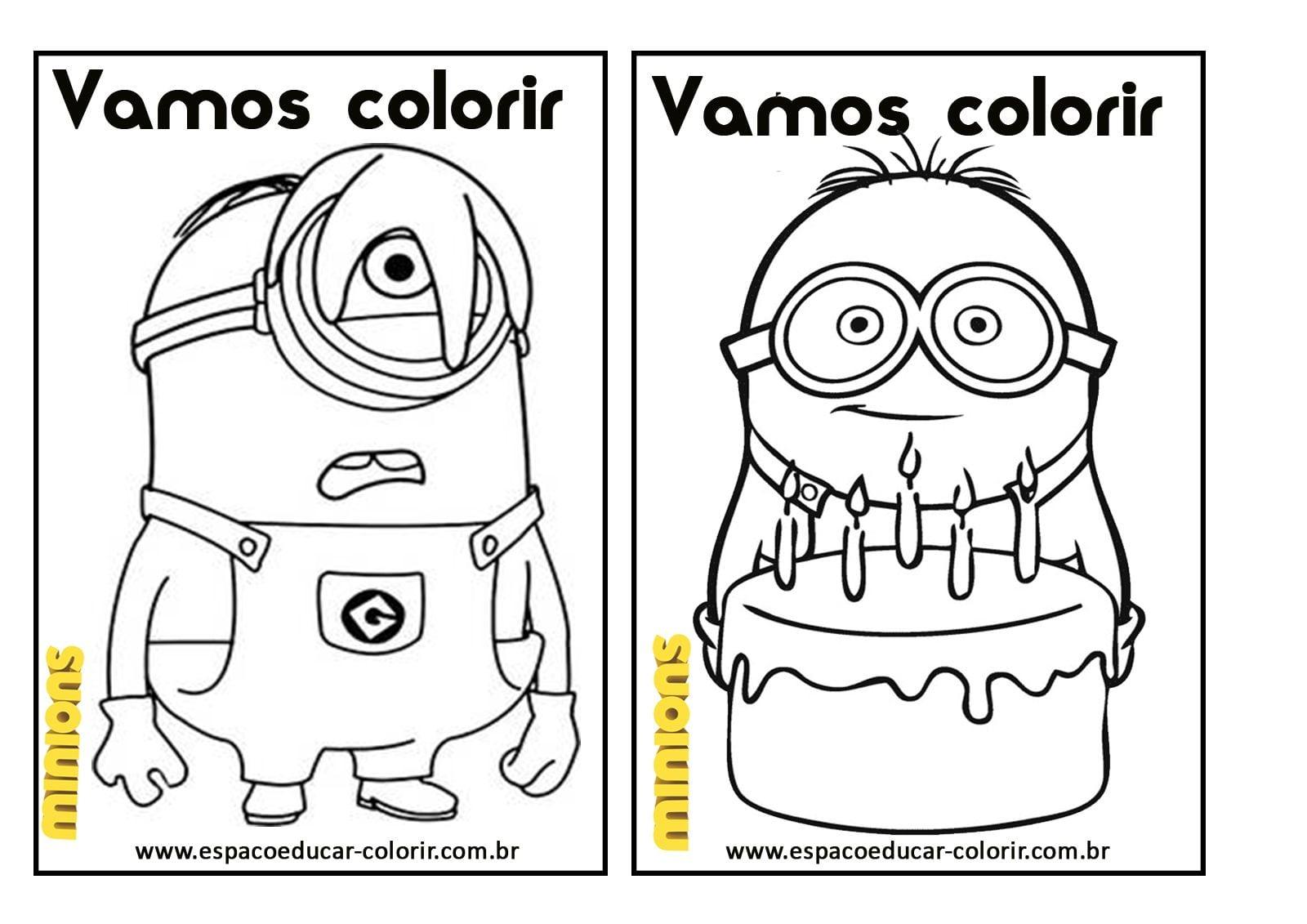 Espaço Educar Desenhos Para Colorir   Livro De Colorir Dos Minions
