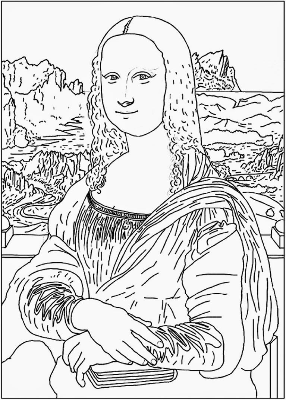 Pintores Famosos  Leonardo Da Vinci Para Niños