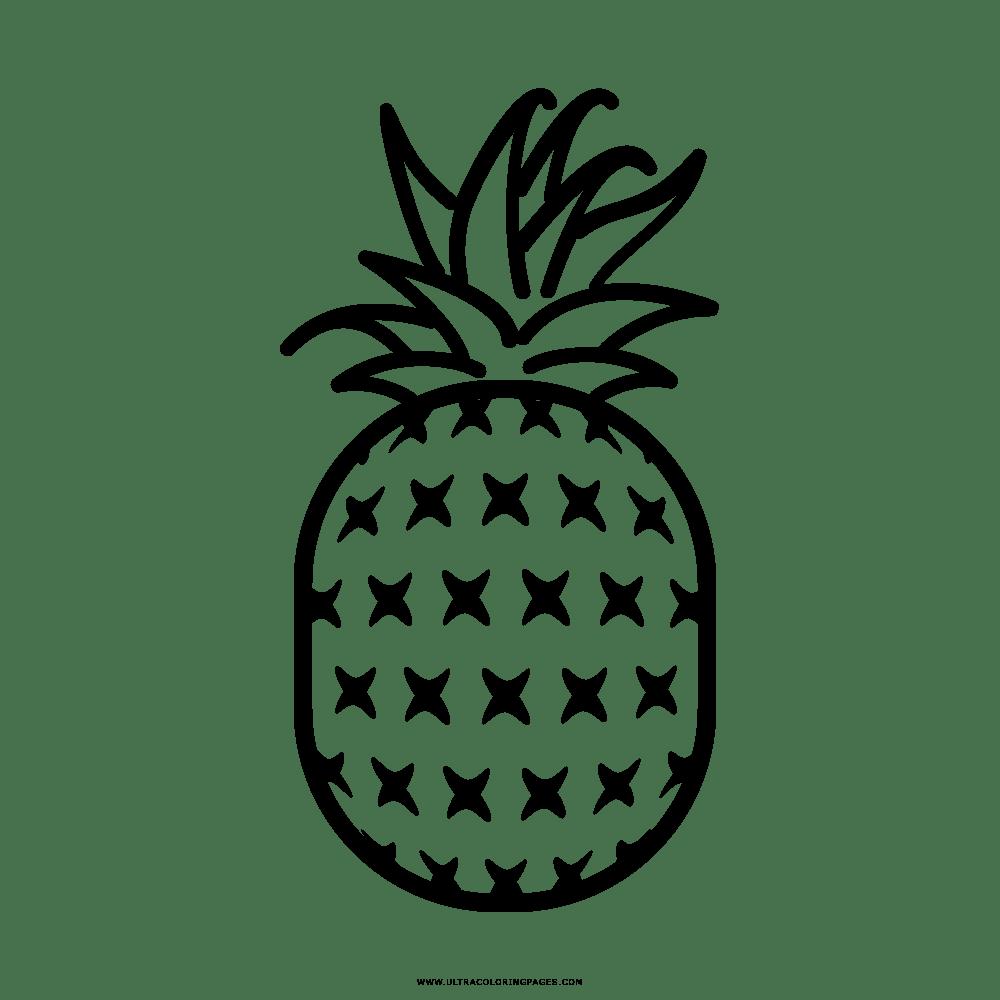 Abacaxi Desenho Para Colorir