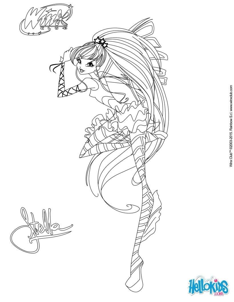 Stella, Transformation Sirenix Coloring Page