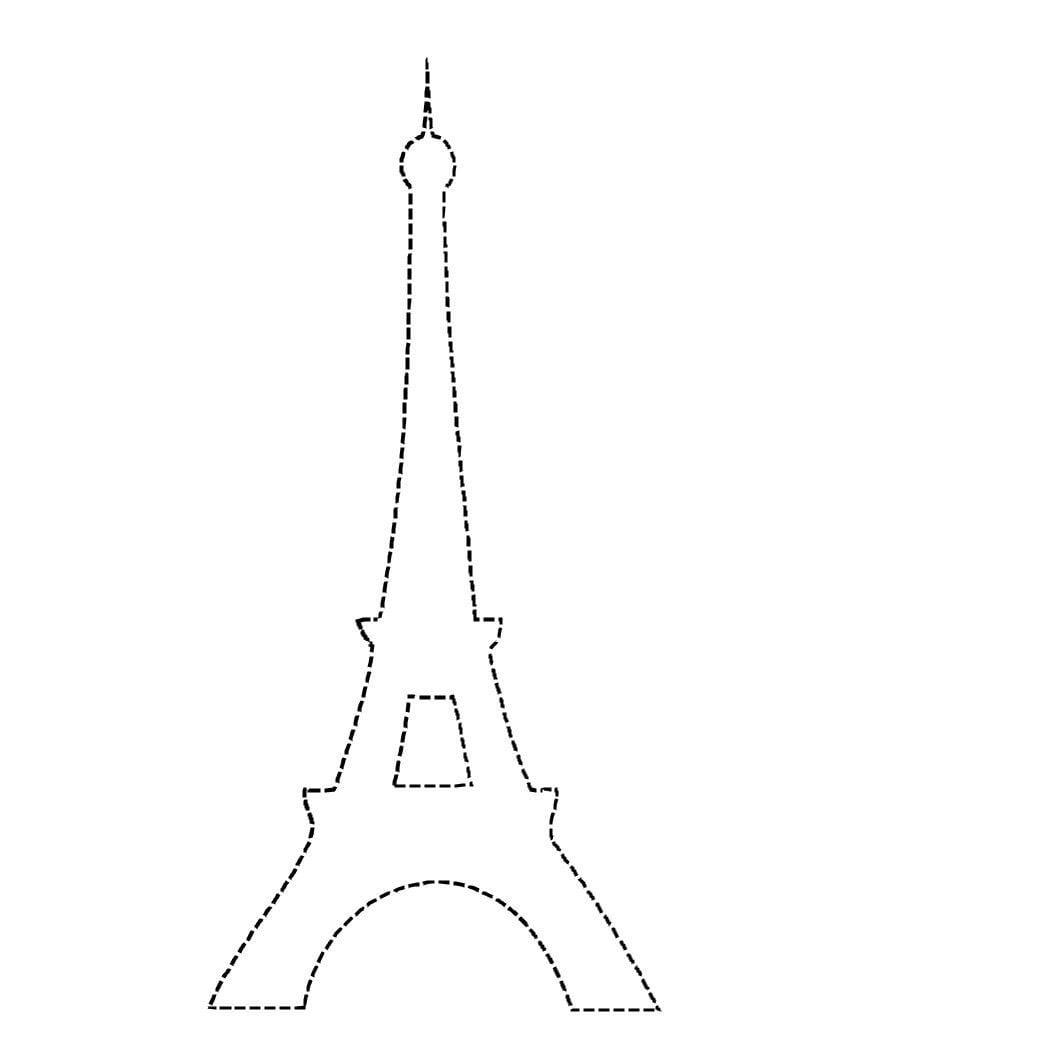 Eiffel Tower Applique Outline