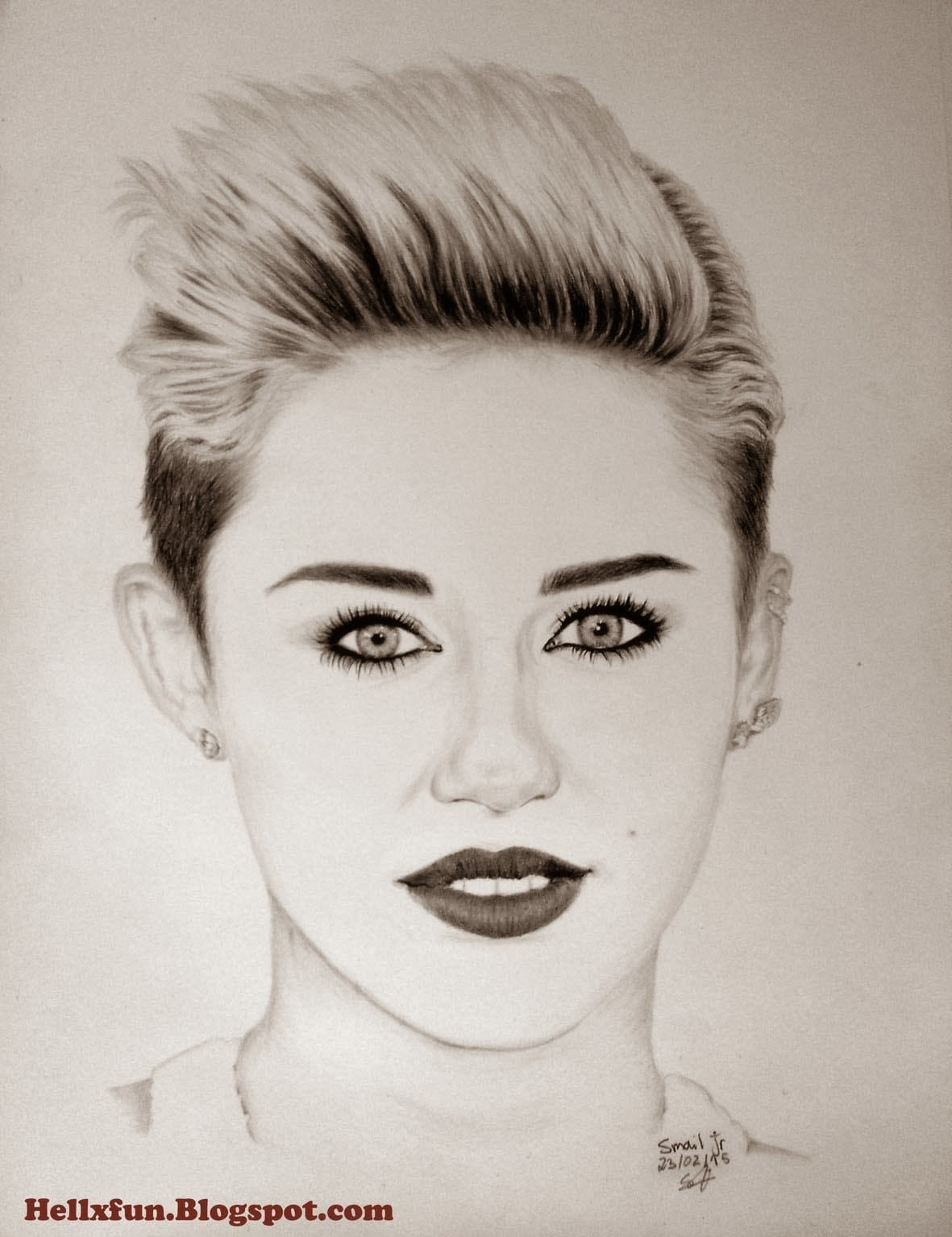 Miley  Cyrus  Mileycyrus  Miley_cyrus  Pencil  Portrait  Drawing