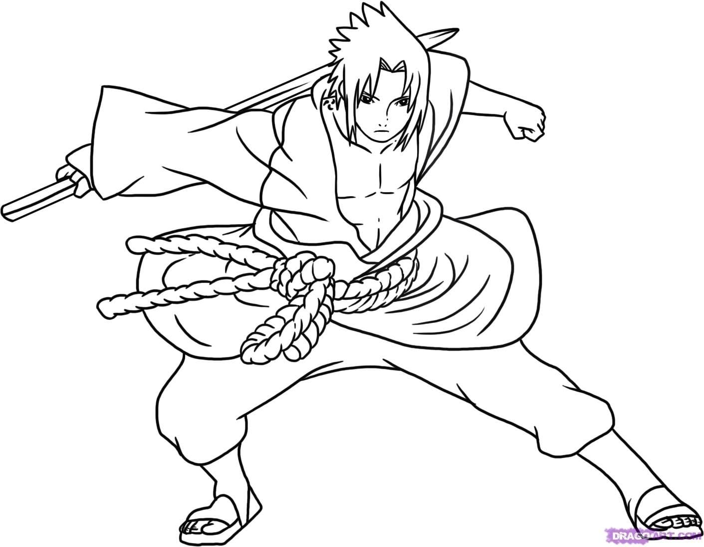 Naruto Vs Sasuke Coloring Pages