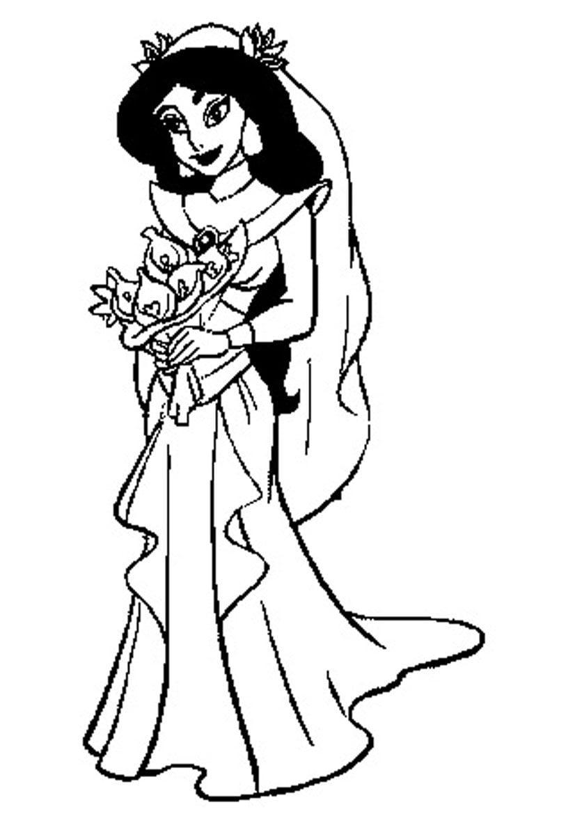 Imagenes De La Princesa Jasmin Para Pintar