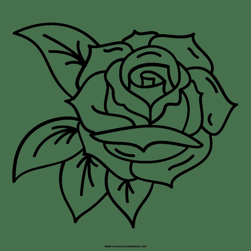 Desenhos Para Colorir De Rosa