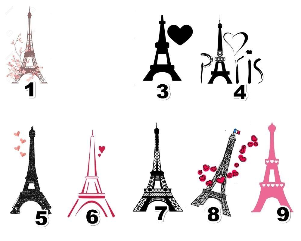 Aplique   Recorte Paris Torre Eiffel 4cm No Elo7