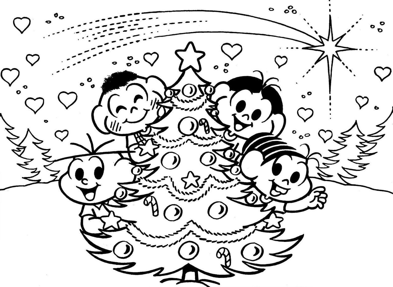 Desenho De Arvores De Natal Para Colorir ~ Imagens Para Colorir