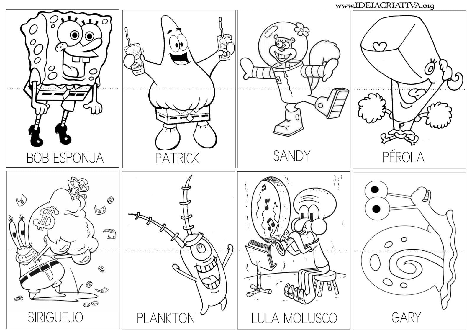 Imagens De Desenhos Para Colorir Do Bob Esponja
