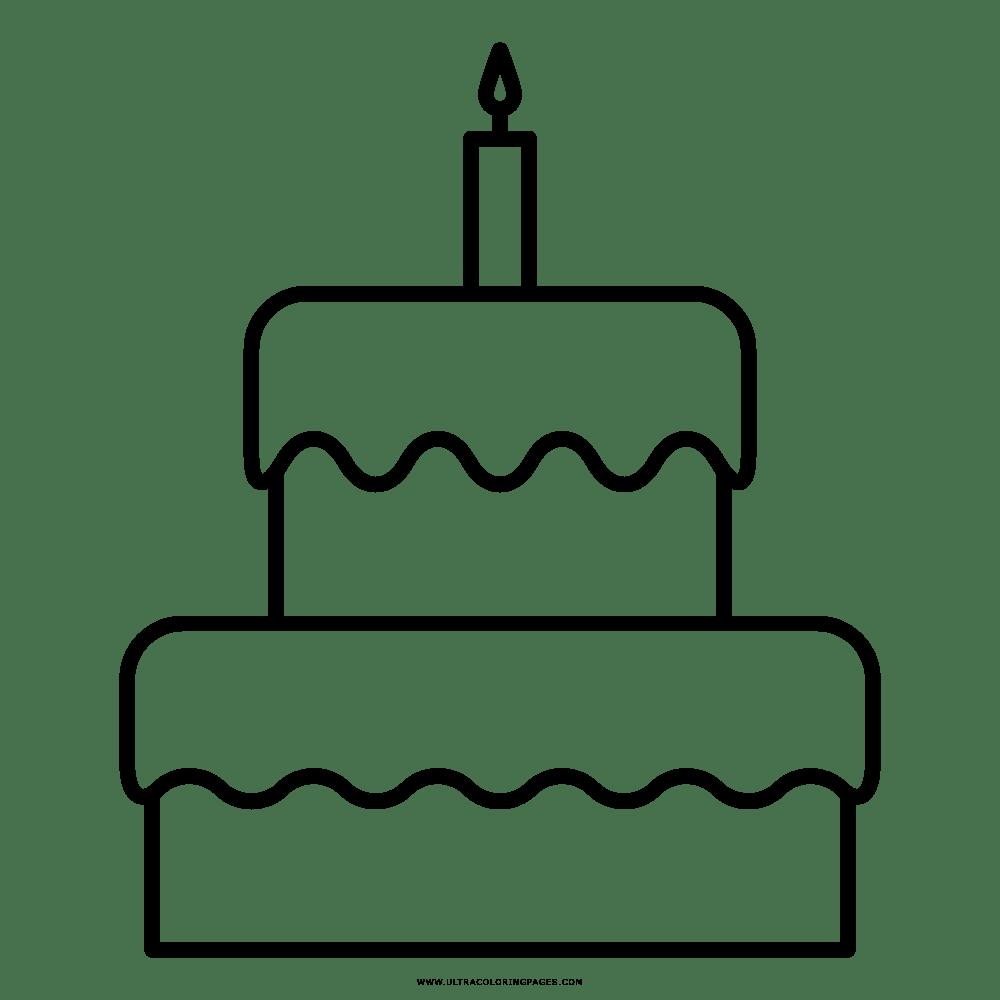 Resultado De Imagem Para Desenho Bolo De Aniversário Para Colorir