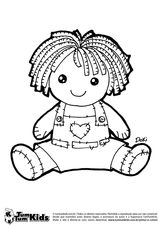 Desenho De Uma Boneca Para Colorir