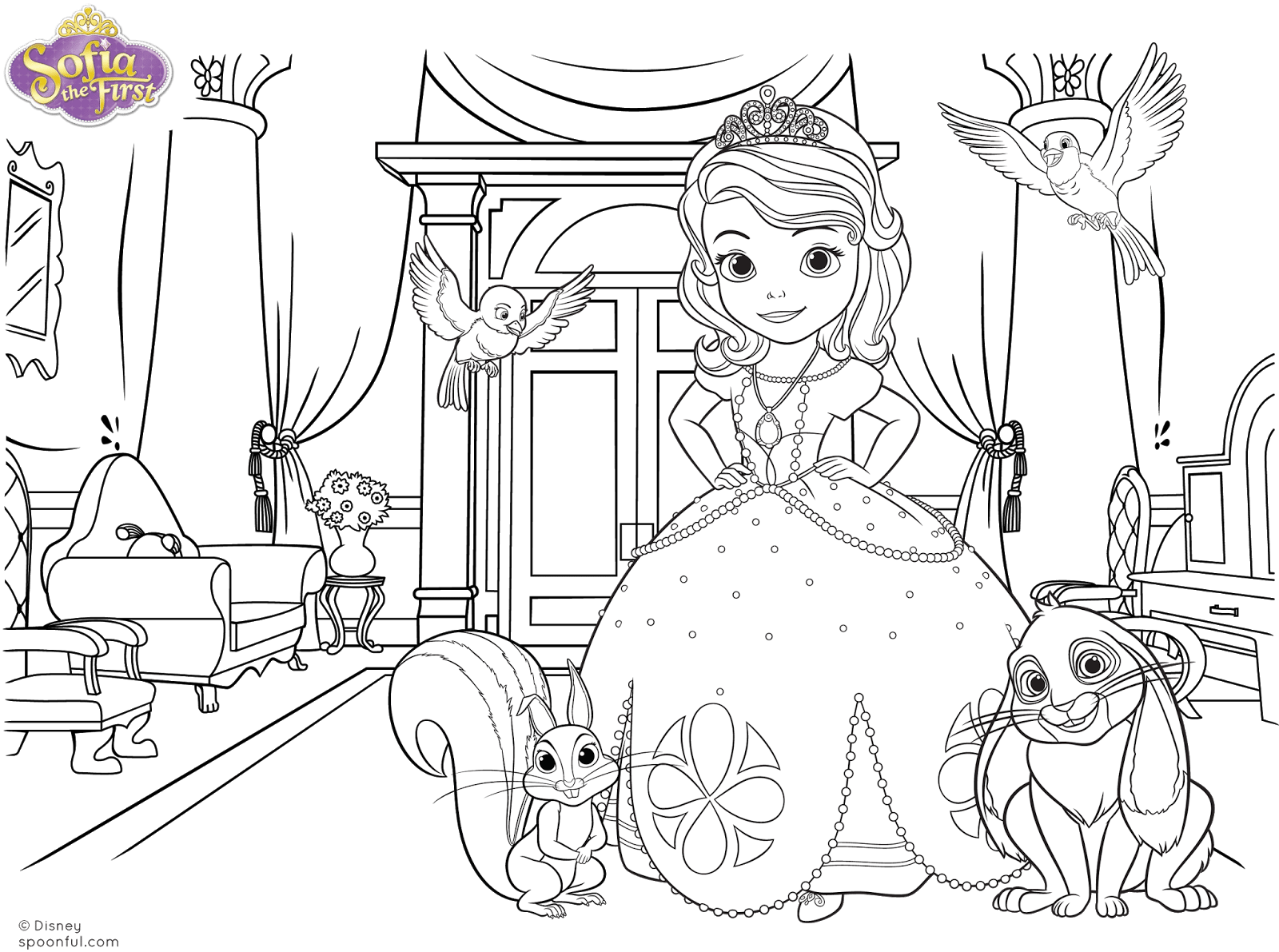 Princesinha Sofia Colorir – Pampekids Net