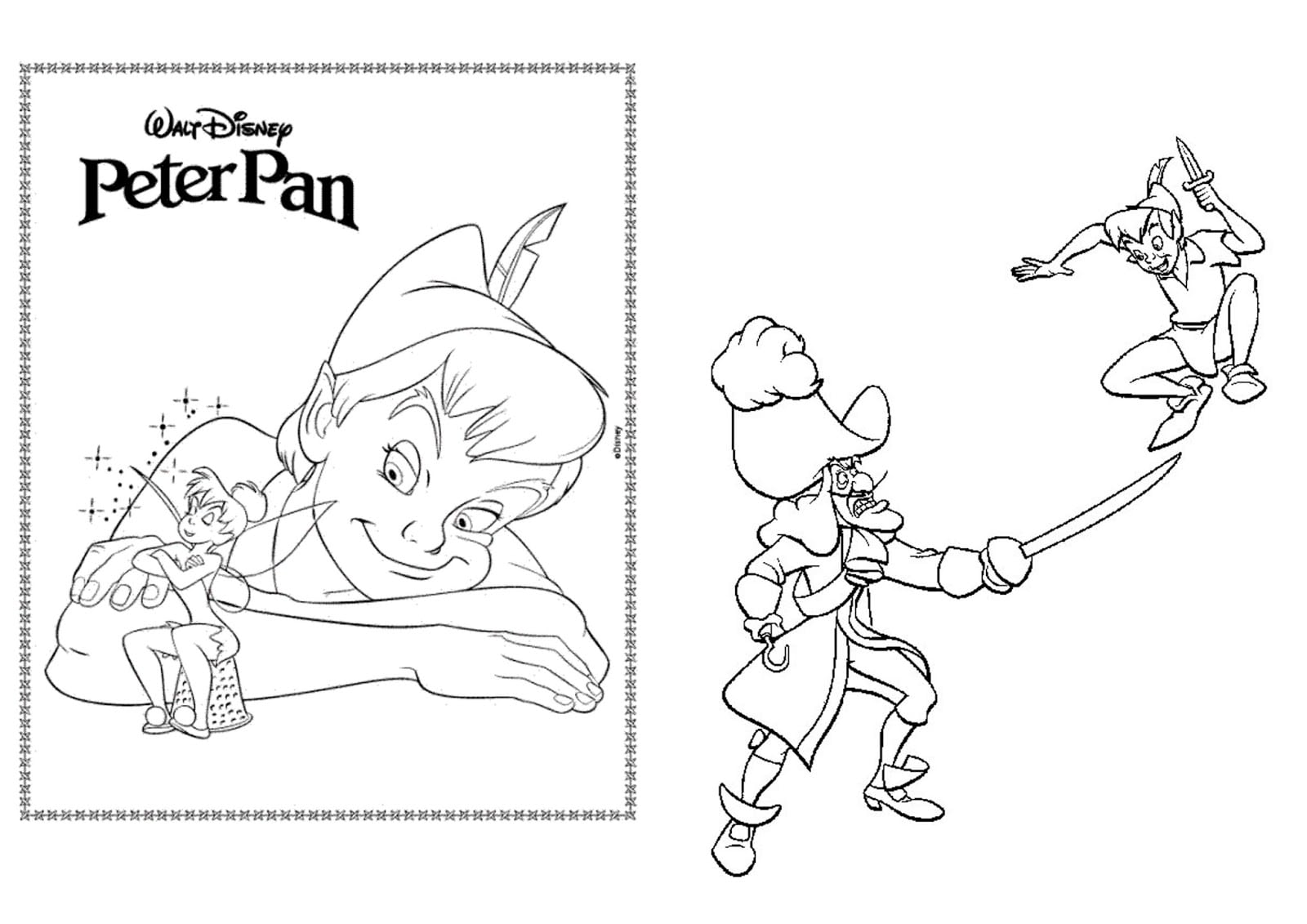 Peter Pan Para Colorir – Pampekids Net