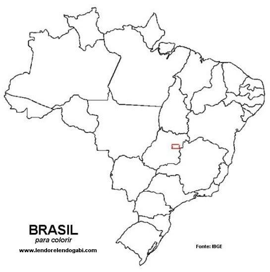 Imagens Do Mapa Do Brasil Para Colorir