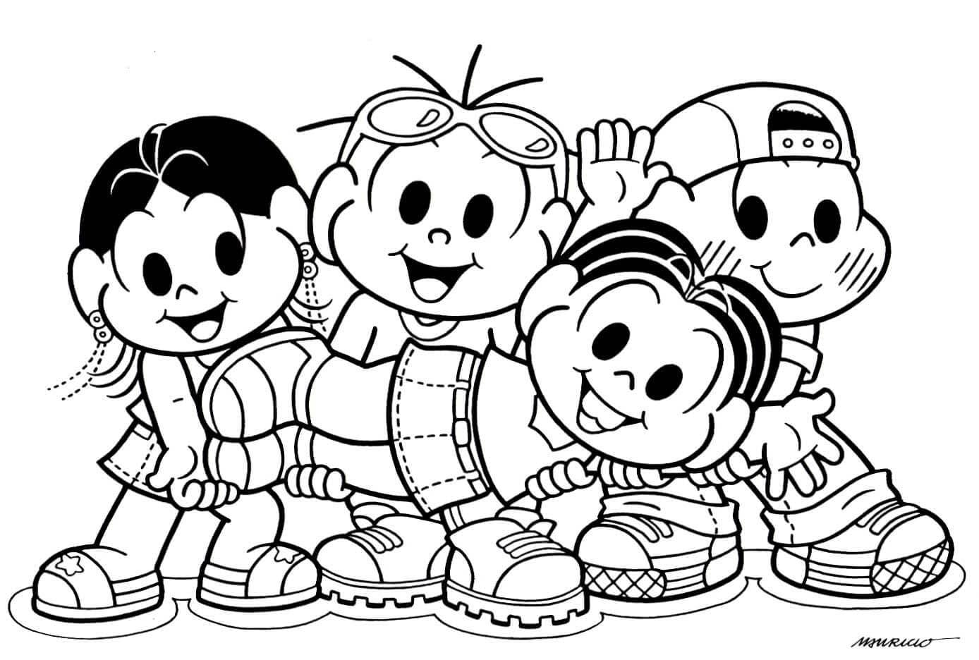 Desenhos Da Turma Da Monica Jovem Para Colorir E Imprimir