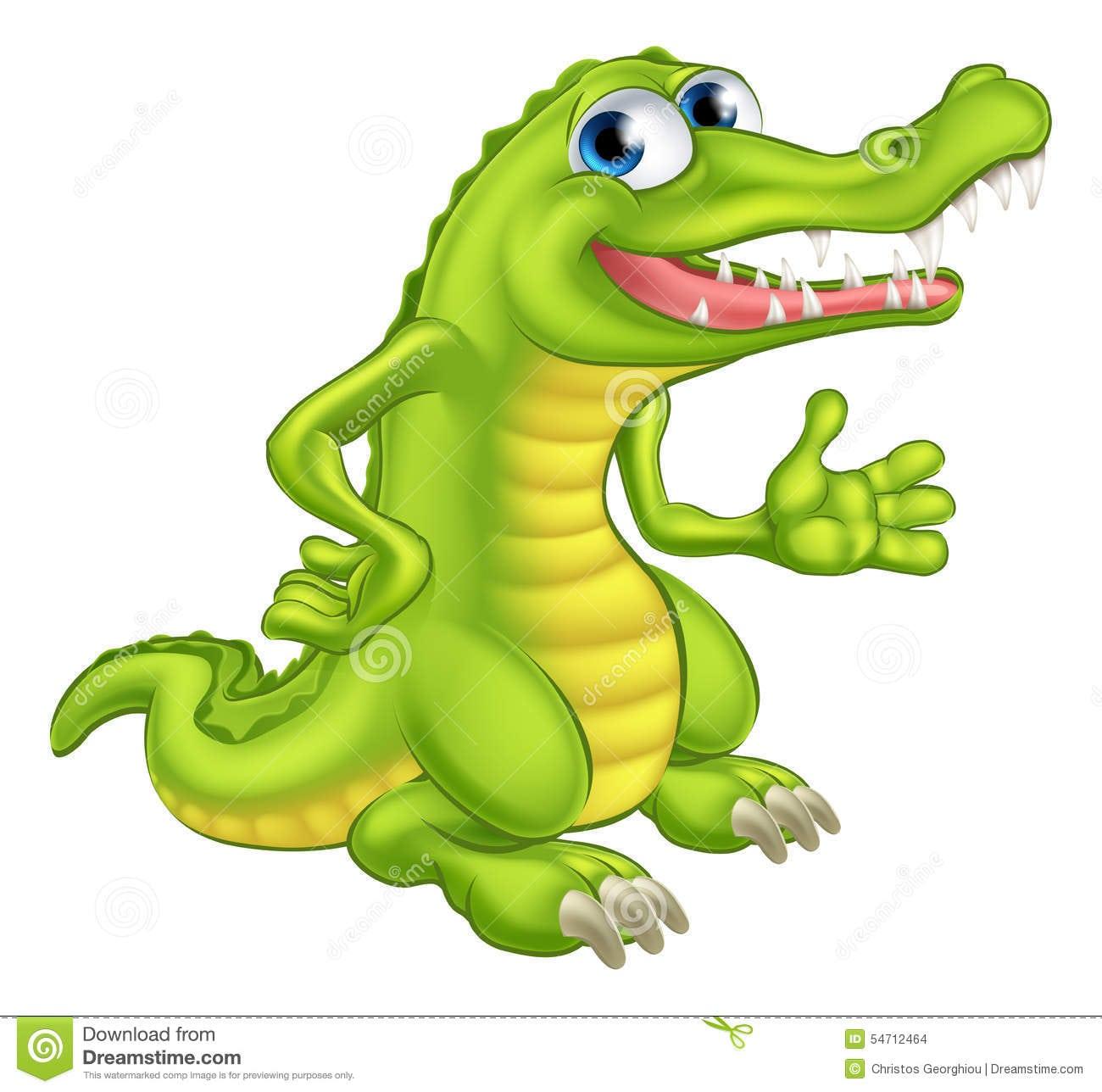 Crocodilo Ou Jacaré Dos Desenhos Animados Ilustração Do Vetor